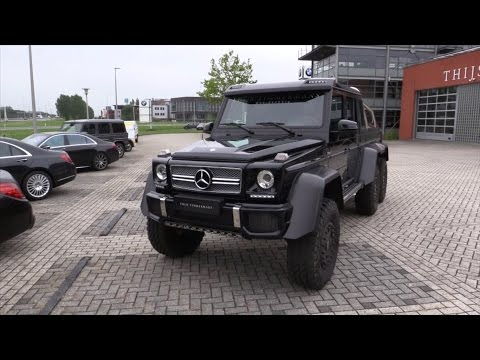 Mercedes-Benz G63 AMG 6x6 Start Up In Depth Review Interior Exterior