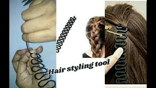 DIY hair accessories - Easy hair styling tool | making with silk thread