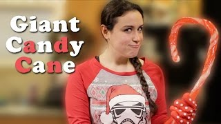 DIY Giant Candy Cane
