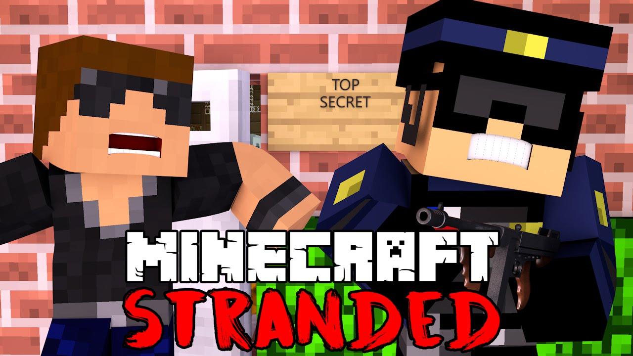 TOP SECRET BASE?! - Minecraft Stranded - Minecraft Roleplay #15