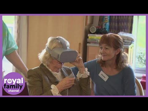 duchess-of-cornwall-tries-out-vr-headset-at-hospice