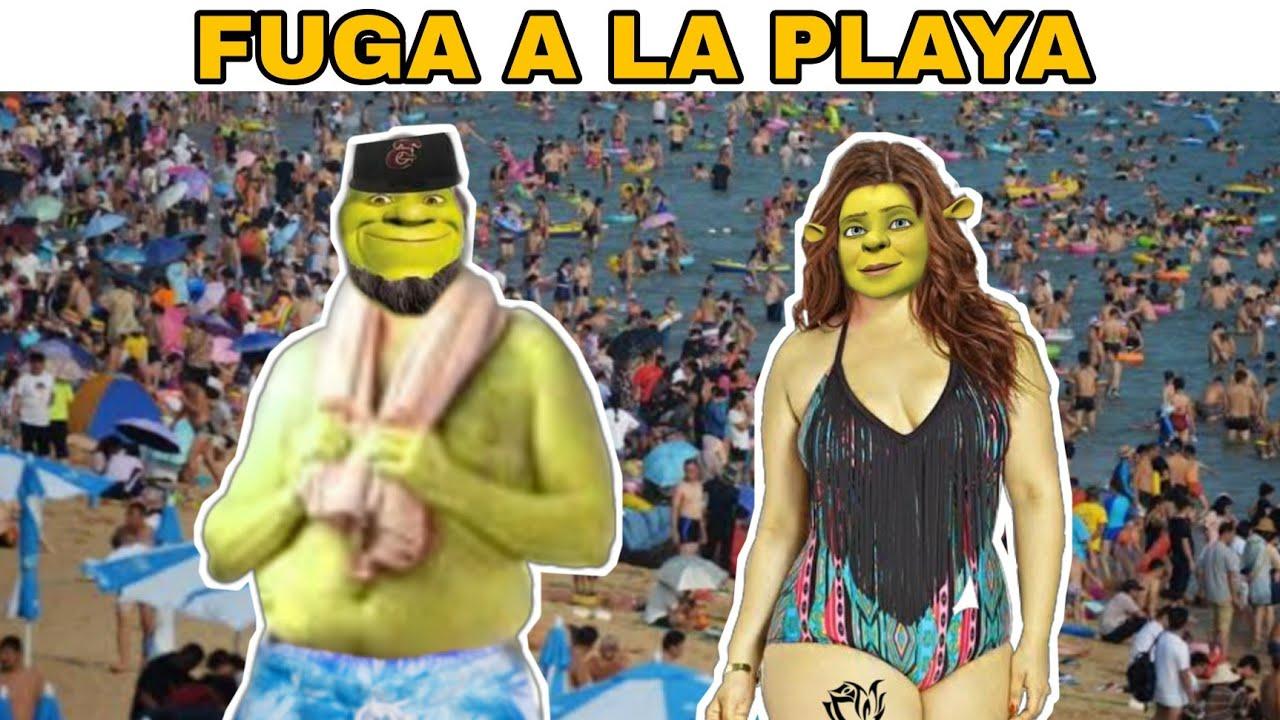 Shrek Buchon y su familia se van a la playa🏖️