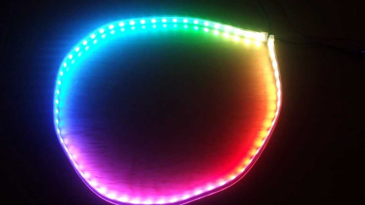 competitive price 3d341 5dee6 RGB LED strip WS2811 + fading rainbow circle