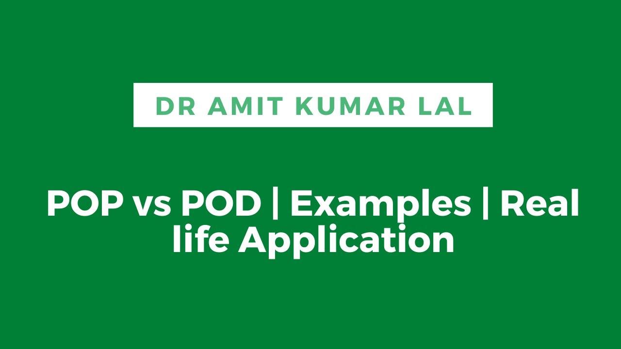 POP vs POD   Real Life Application   #shorts