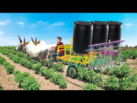 बैल पानी टैंकर खेती Bull Water Tanker Farming Comedy Video Hindi Kahaniya हिंदी कहानिया Comedy Video