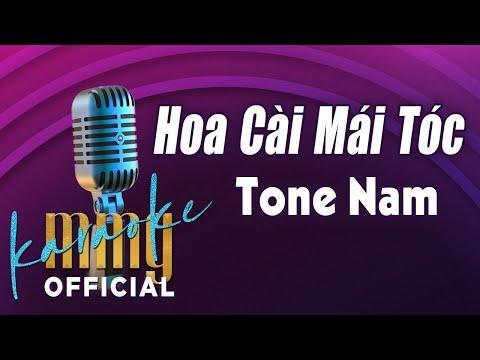 Hoa Cài Mái Tóc (Karaoke Tone Nữ) | Hát với MMG Band