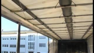 Zařízení pro odstranění vody a ledu ze střech návěsů a přívěsů