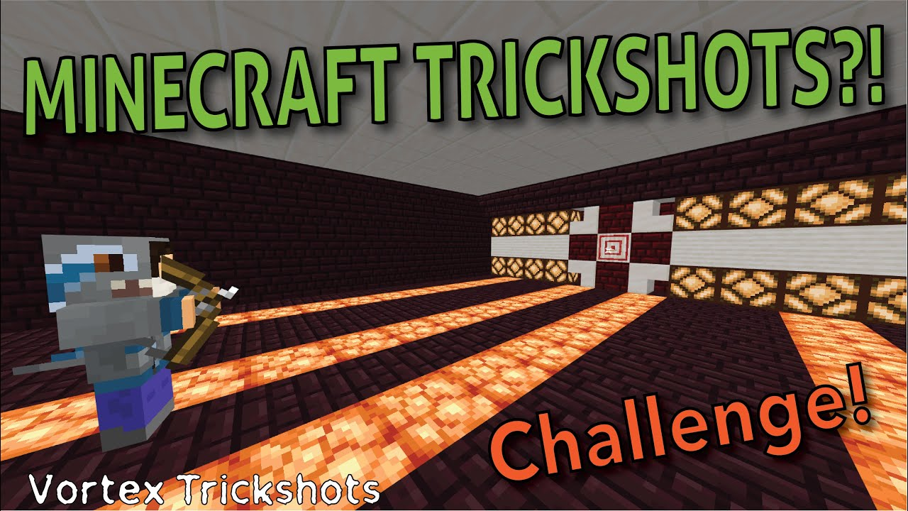 Vortex Trickshots plays MINECRAFT!? (+ New Channel Announcement)