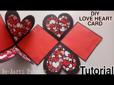 DIY LOVE Heart card || Pop-up love Card|| love card for scrapbook|| Love Card|| Heart Card