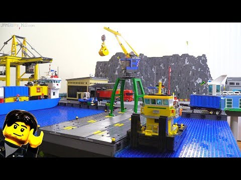 LEGO city update: New harbor building, taller hill, moved wa