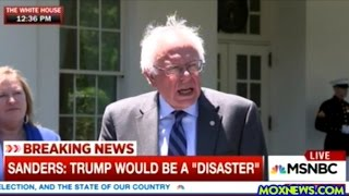 Bernie Sanders Speaks To The Press After Talking With Obama