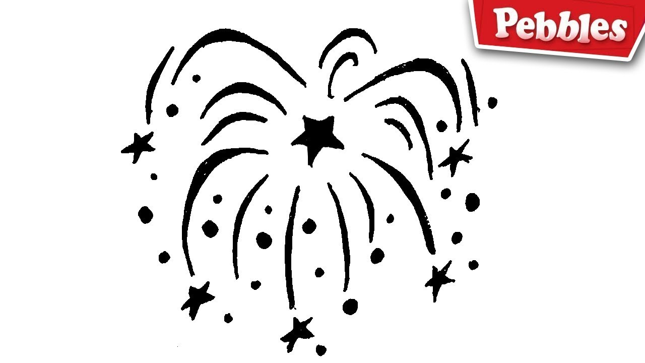 Simple Fireworks Drawings Easy Www Topsimages Com