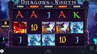 Dragons Of The North Bonus Feature + Jackpot (BIG WIN)