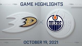 NHL Highlights   Ducks vs. Oilers - Oct. 19, 2021