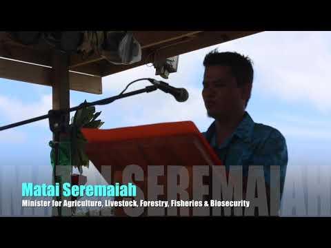 #PWA 2017 Opening Speechby Vanuatu Minister for Agriculture Matai Seremaiah