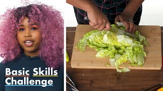 50 People Try to Chop Lettuce | Epicurious