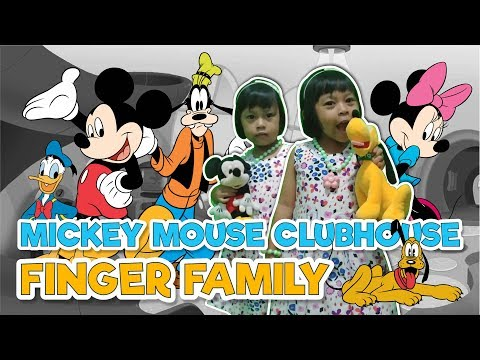mickey mouse clubhouse finger family | sing along nursery rhymes