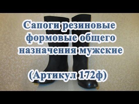 Сапоги резиновые формовые общего назначения мужские (Артикул 172ф)