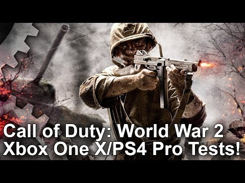 [4K] Call of Duty WW2: Xbox One X vs PS4 Pro First Look