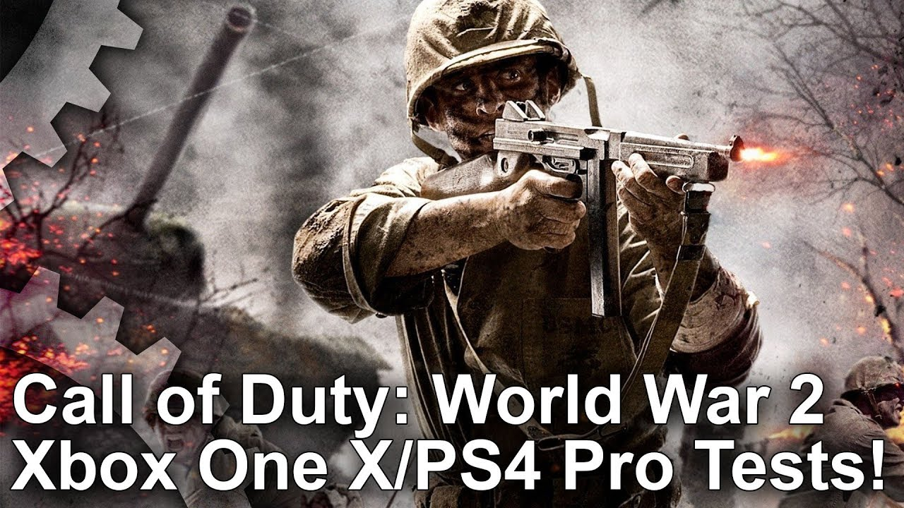 4k call of duty ww2 xbox one x vs ps4 pro first look - Is cod ww2 4k ...