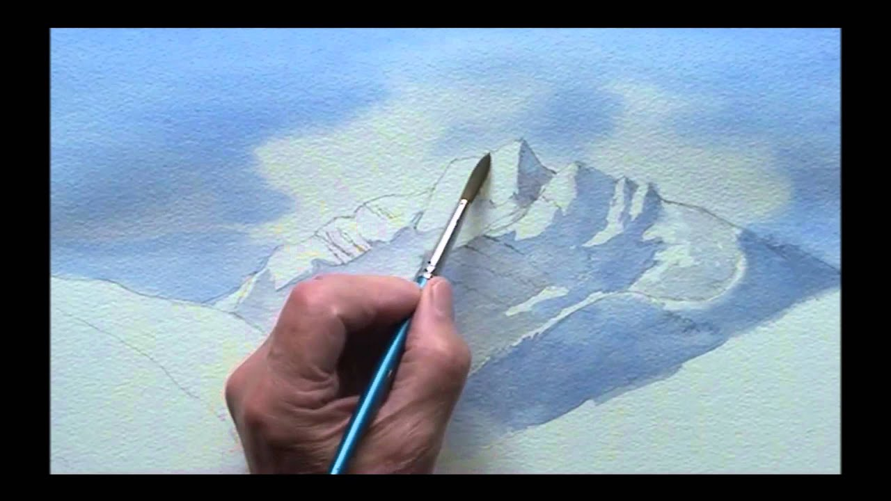 painting mountains in watercolor youtube. Black Bedroom Furniture Sets. Home Design Ideas