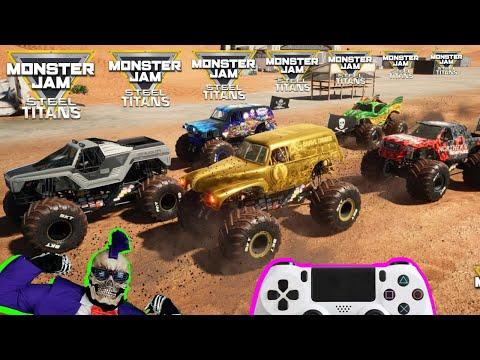 Monster Jam Video Game Steel Titans Dlc Monster Trucks Racing Championship Youtube