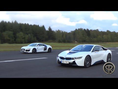 DRAG RACE: BMW I8 Vs Audi R8 V8
