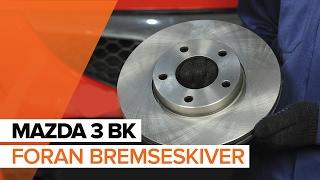 Hvordan erstatning Bremsekloss MAZDA 3 2019 - bruksanvisning