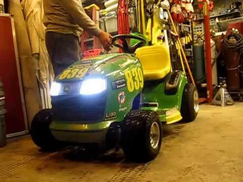 Lawn Mower Racing >> Racing Mower - Another Extreme Makeover John Deere L130 GP - YouTube