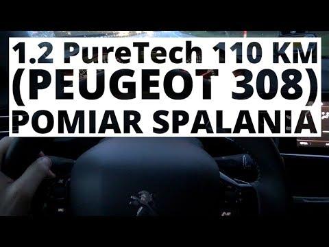 Peugeot 308 1.2 PureTech 110 KM (MT) - pomiar zużycia paliwa