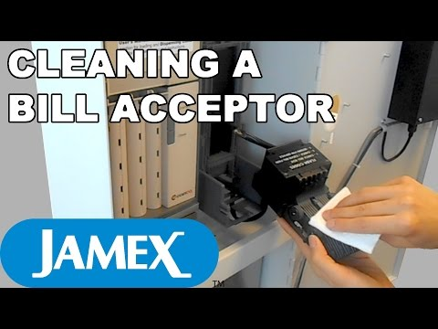 Jamex 6557: How to Clean the Bill Acceptor - YouTube