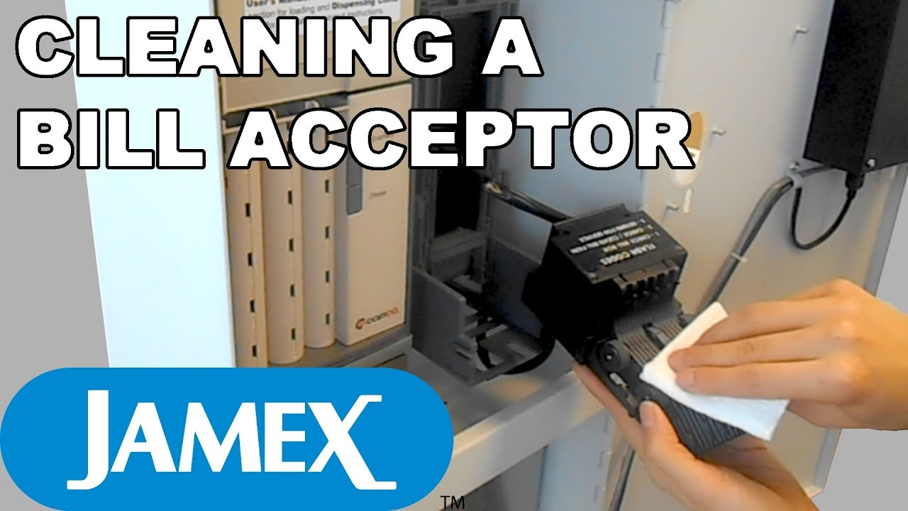 Jamex 6557: How to Clean the Bill Acceptor