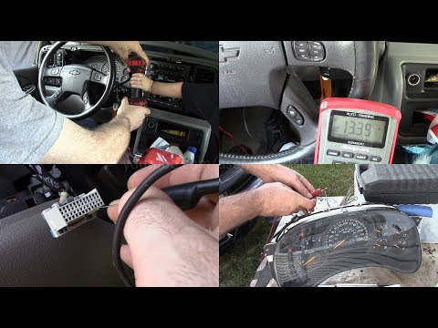 2004 Tahoe Instrument Cluster Power/ground Tests And Bench Test (and Cluster Issues)
