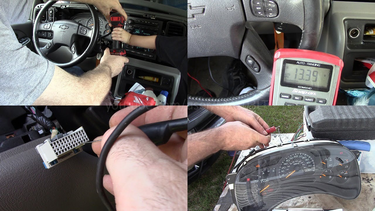 2004 Tahoe instrument cluster powerground tests and bench test (and cluster issues)  YouTube