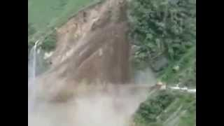 Mountain Destroyed in Seconds due Flooding in Uttarkhashi Region