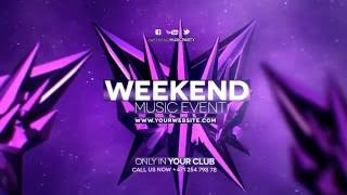 Weekend Music Party Promo Template For After Effects