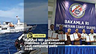 Mahfud MD pastikan Omnibus Law Keamanan Laut selesai di 2020