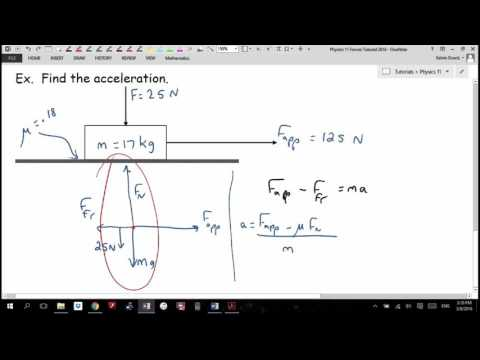 Physics 11 Forces Tutorial 2016