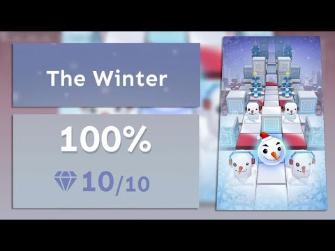 Rolling Sky Bonus lv.11 The Winter 100% Clear - All Gems & Gifts | SHA