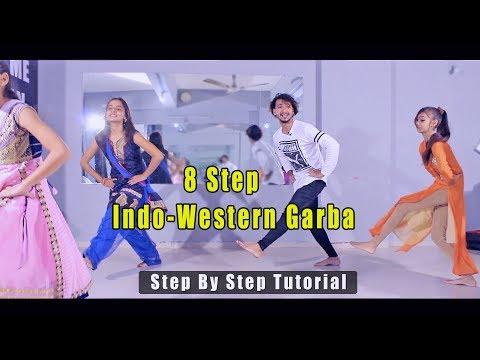 8 step indo-western garba | step by step tutorial | vicky patel | Hindi | Easy Basic Garba step