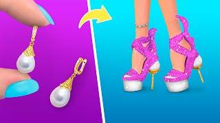 6 DIY Barbie Miniature Footwear Hacks and Crafts