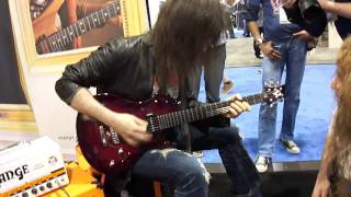 Ron Thal & Guthrie Govan Jamming at the Vigier Booth NAMM 2011