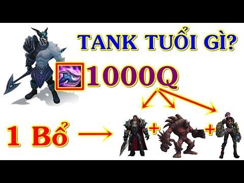 Nasus Top 1000Q Farm Vượt Thời Gian Đập 3 Thằng Tank 1 Bổ | Trâu Best Udyr
