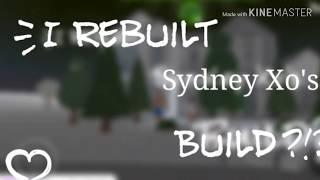 ho ricostruito la casa di Sydney Xo?! Roblox Bloxburg