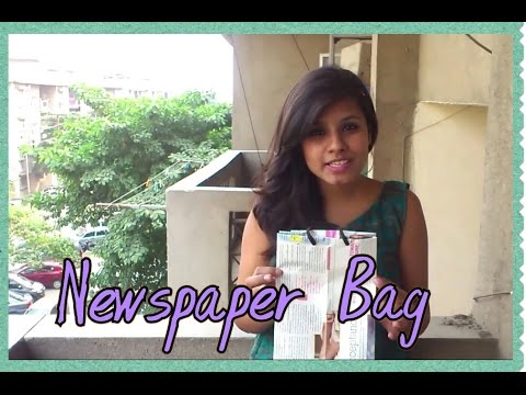 how to make paper bags from newspaper at home