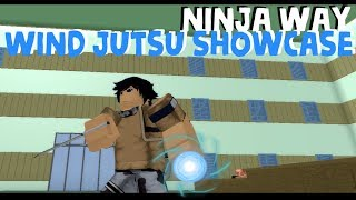 Roblox The Ninja Way | ALL WIND JUTSUS SHOWCASE!