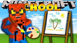Minecraft School : PAINTING ZOO ANIMALS!
