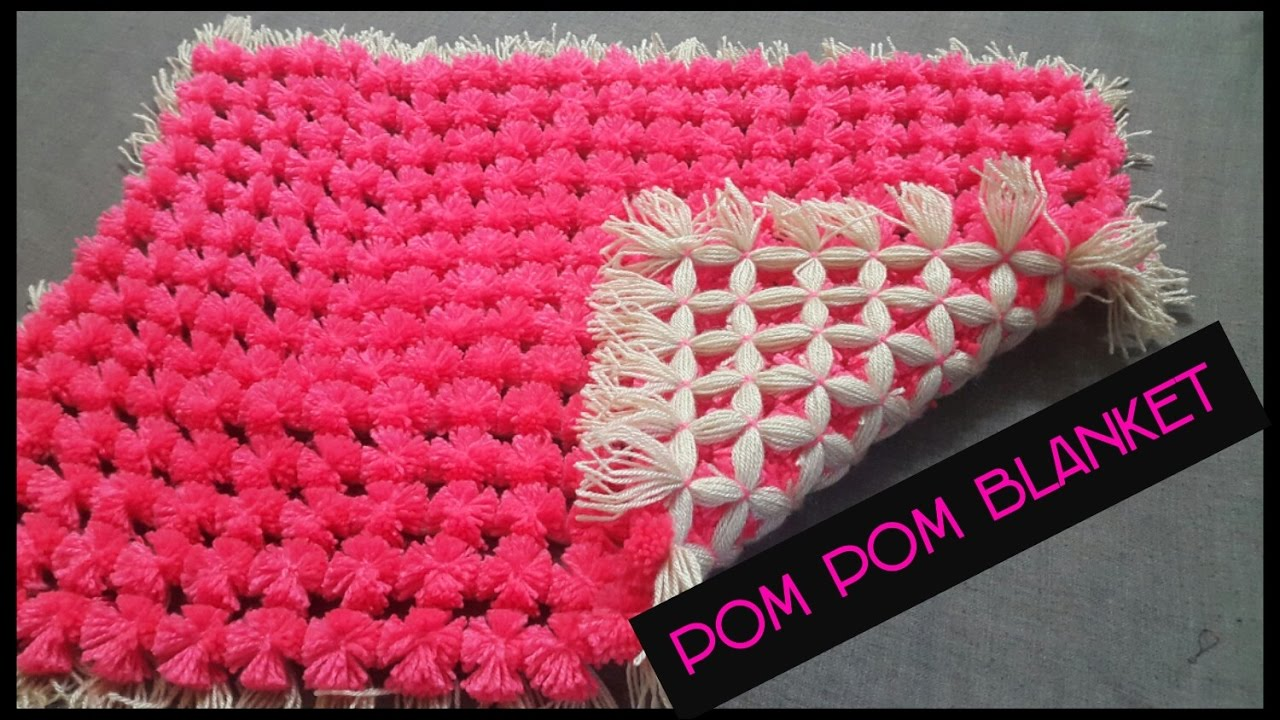 How to make a pom blanket without a frame