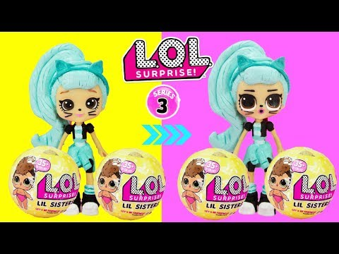 LOL SURPRISE Big Sister Troublemaker LOL Makeover Series 3 Little Sisters Balls