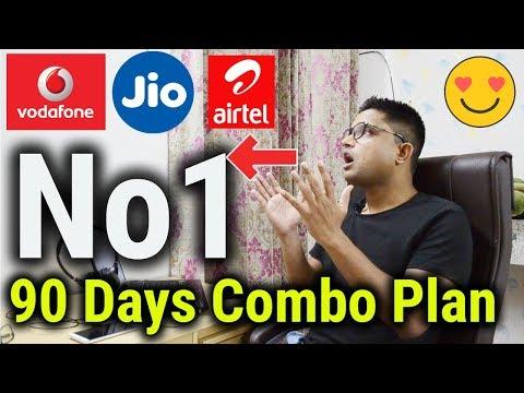 best-90-days-combo-prepaid-plans-|-airtel---vodafone---jio-किसमें-कितना-है-दम-😱